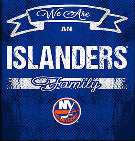 NHL Family Cheer Framed Art - New York Islanders