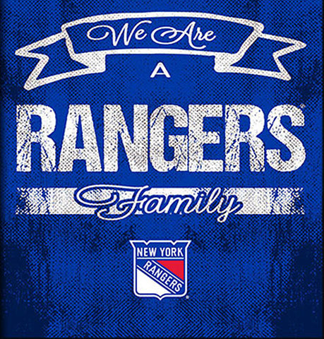 NHL Family Cheer Framed Art - New York Rangers