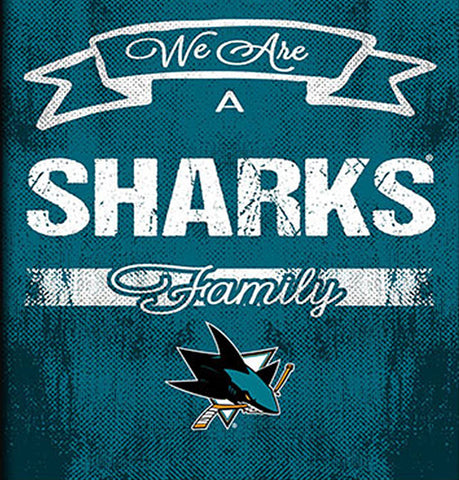 NHL Family Cheer Framed Art - San Jose Sharks