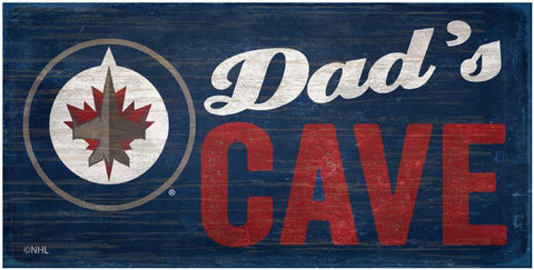 NHL Dad's Cave - Winnipeg Jets Wooden Sign