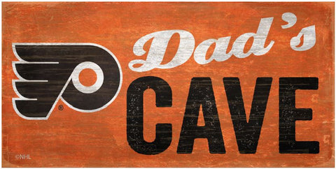 NHL Dad's Cave - Philadelphia Flyers Wooden Sign