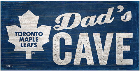 NHL - Dad's Cave - Toronto Maple Leafs Wooden Sign