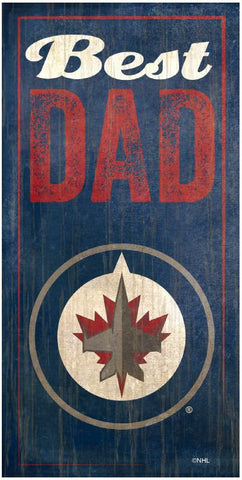 NHL - Best Dad - Winnipeg Jets Wooden Sign