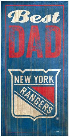 NHL - Best Dad - New York Rangers Wooden Sign