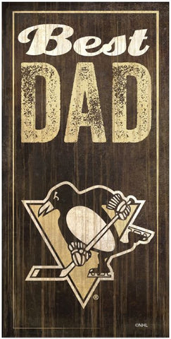 NHL - Best Dad - Pittsburgh Penguins Wooden Sign