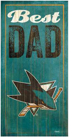 NHL - Best Dad - San Jose Sharks Wooden Sign