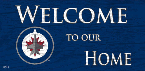 NHL - Welcome to our Home - Winnipeg Jets Wooden Sign