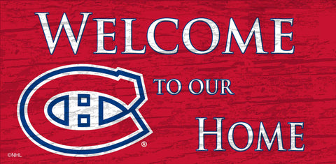 NHL - Welcome to our Home - Montreal Canadiens Wooden Sign