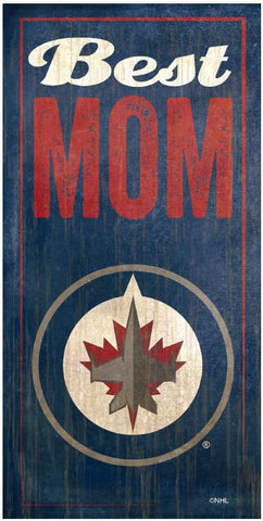 NHL - Best Mom - Winnipeg Jets Wooden Sign