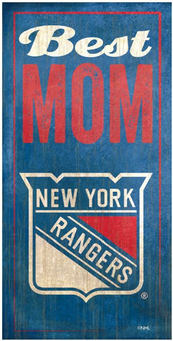 NHL - Best Mom - New York Rangers Wooden Sign