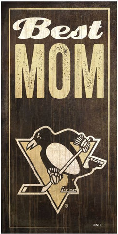 NHL - Best Mom - Pittsburgh Penguins Wooden Sign