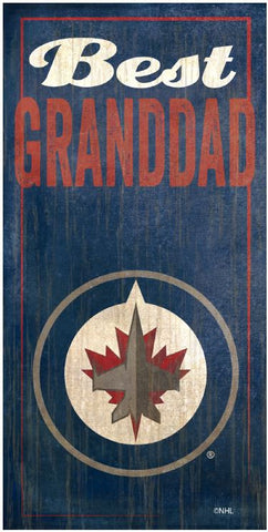 NHL - Best Granddad - Winnipeg Jets Wooden Sign