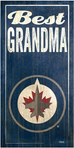 NHL - Best Grandma - Winnipeg Jets Wooden Sign