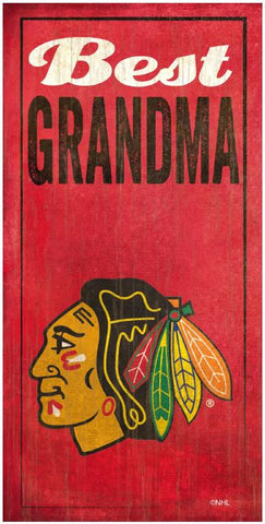 NHL - Best Grandma - Chicago Blackhawks Wooden Sign