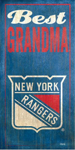 NHL - Best Grandma - New York Rangers Wooden Sign