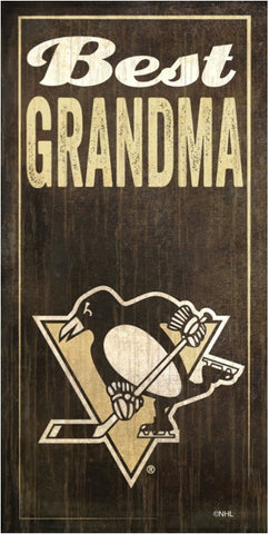 NHL - Best Grandma - Pittsburgh Penguins Wooden Sign