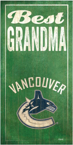NHL - Best Grandma - Vancouver Canucks Wooden Sign