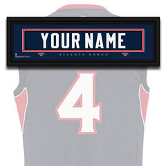 NBA Personalized Jersey Name Patch - Atlanta Hawks