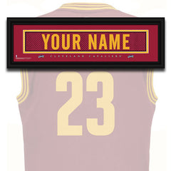 NBA Personalized Jersey Name Patch - Cleveland Cavaliers