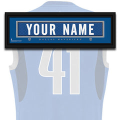 NBA Personalized Jersey Name Patch - Dallas Mavericks
