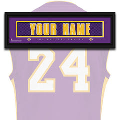 NBA Personalized Jersey Name Patch - Los Angeles Lakers