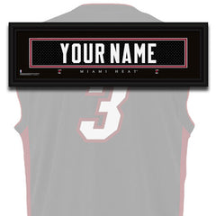 NBA Personalized Jersey Name Patch - Miami Heat