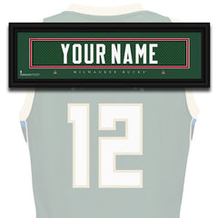 NBA Personalized Jersey Name Patch - Milwaukee Bucks