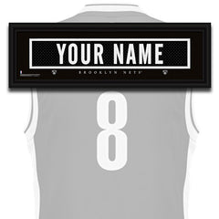 NBA Personalized Jersey Name Patch - Brooklyn Nets