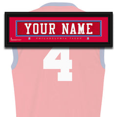 NBA Personalized Jersey Name Patch - Philadelphia 76ers