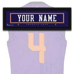 NBA Personalized Jersey Name Patch - Phoenix Suns