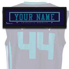 NBA Personalized Jersey Name Patch - Charlotte Hornets