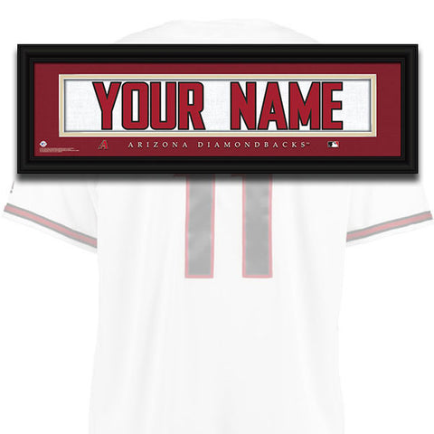 MLB Personalized Jersey Name Patch - Arizona Diamondbacks