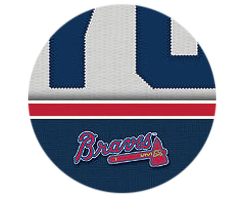 MLB Personalized Jersey Name Patch - Atlanta Braves