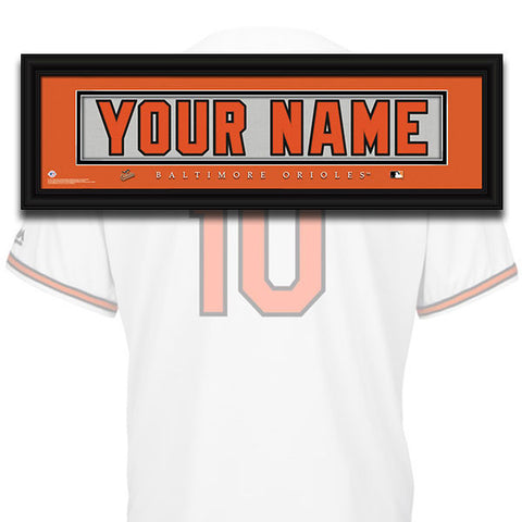 MLB Personalized Jersey Name Patch - Baltimore Orioles