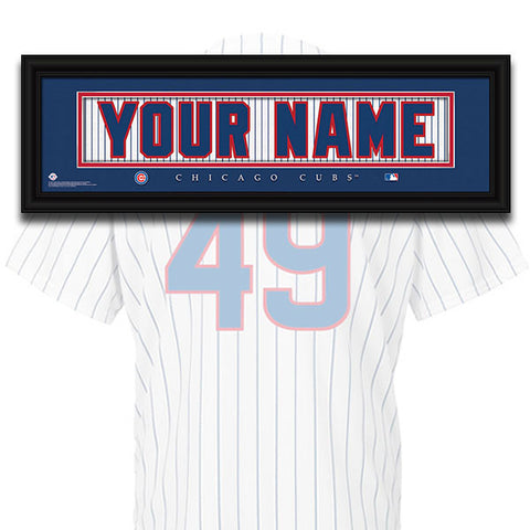 MLB Personalized Jersey Name Patch - Chicago Cubs