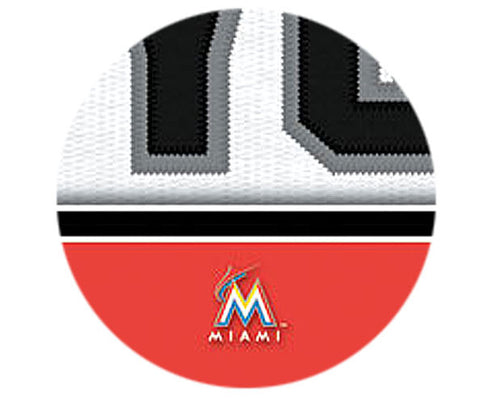 MLB Personalized Jersey Name Patch - Florida Marlins