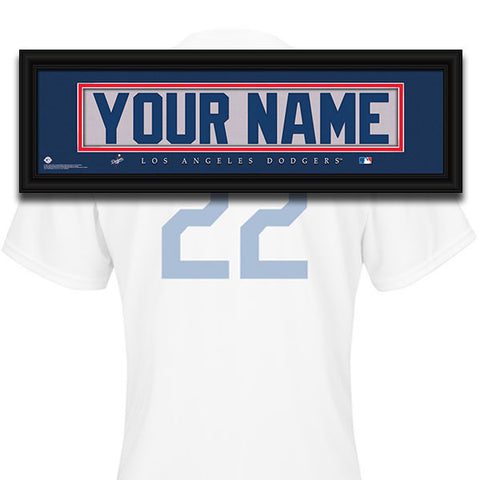 MLB Personalized Jersey Name Patch - Los Angeles Dodgers