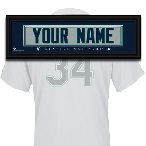 MLB Personalized Jersey Name Patch - Seattle Mariners