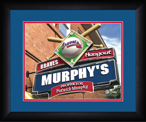 MLB Personalized Pub Sign - Atlanta Braves