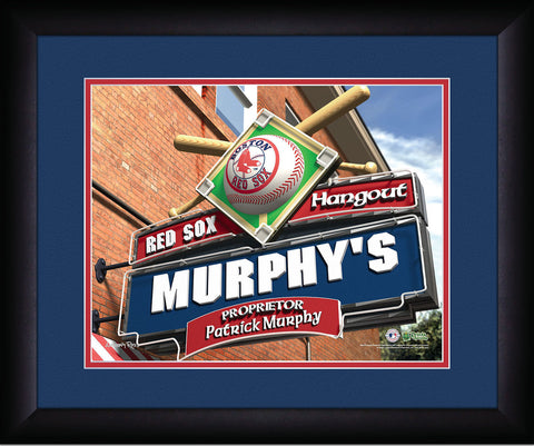 MLB Personalized Pub Sign - Boston Red Sox