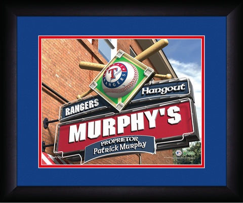 MLB Personalized Pub Sign - Texas Rangers