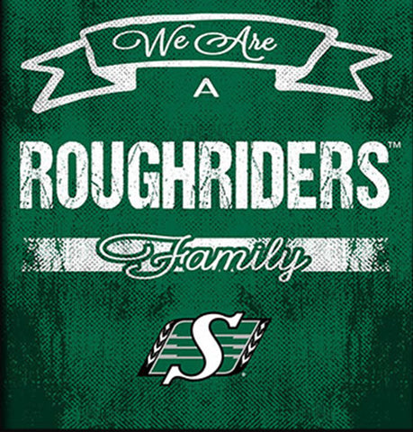 Saskatchewan Roughriders Family Cheer Framed Art