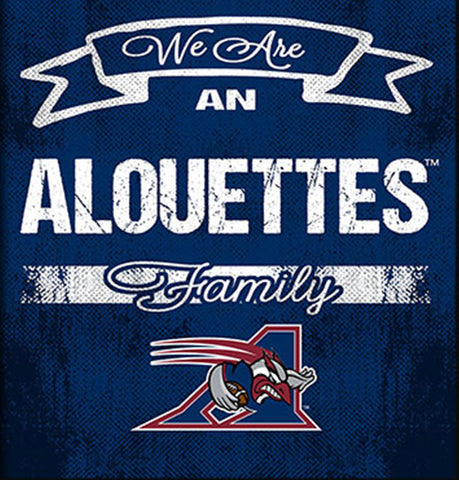Montreal Alouettes Family Cheer Framed Art