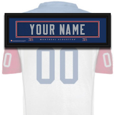 CFL Personalized Jersey Name Patch - Montreal Alouettes