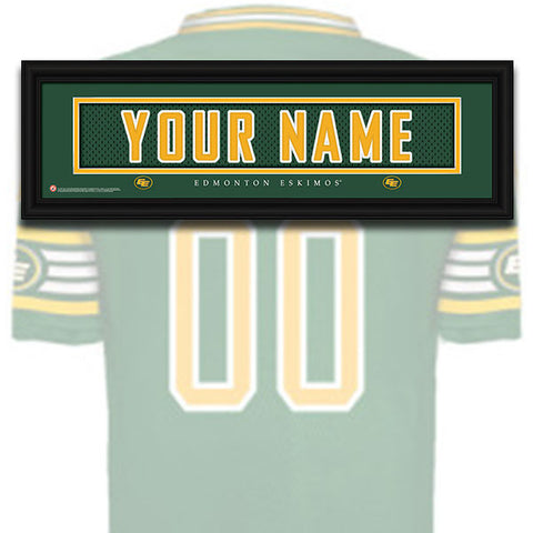 CFL Personalized Jersey Name Patch - Edmonton Eskimos