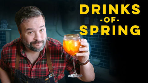 YouTube video thumbnail image of Man holding orange cocktail for How To Drink Episode Drinks of Spring