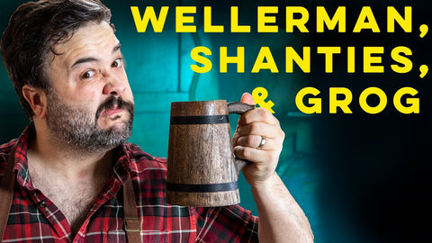 YouTube Thumbnail of Greg Titian with a Cocktail for the Wellerman, Shanties, and Grog How To Drink Episode.