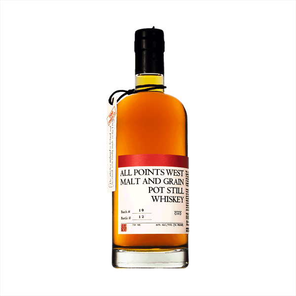 All Points West Malt and Grain Pot Still Whiskey is an award winning one-of-a-kind American Whiskey