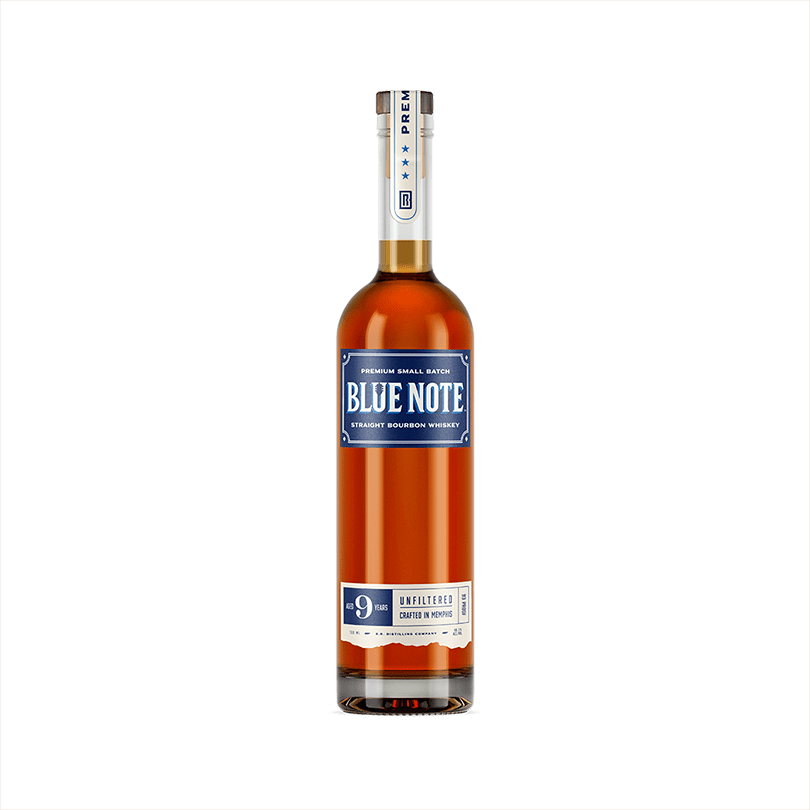 Bottle of Blue Note 9-Year Bourbon Whiskey