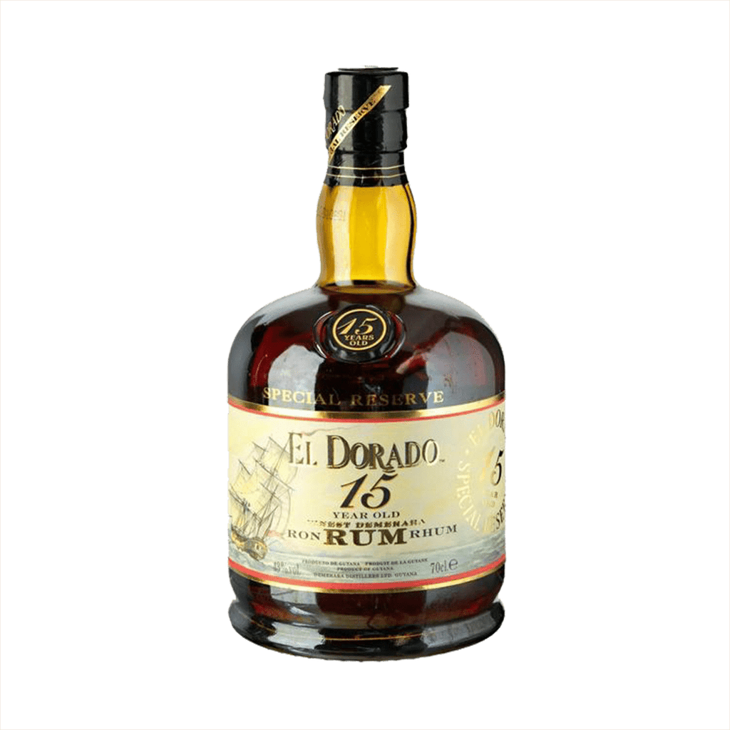 Bottle image of El Dorado 15 Year Old Rum